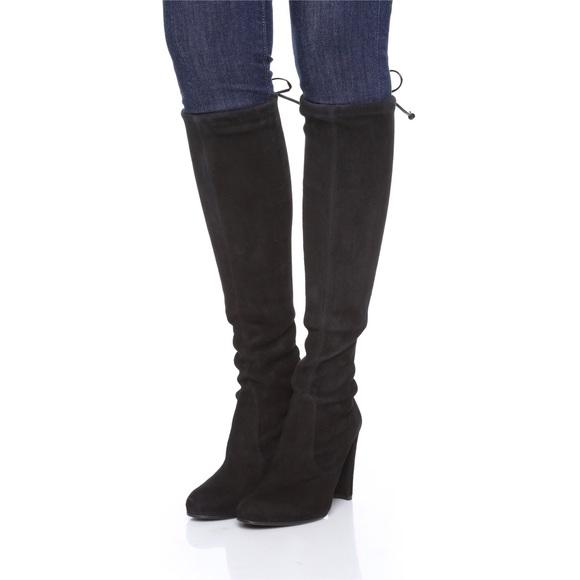 f522713266b Stuart Weitzman Black Keenland Suede Tall Boots
